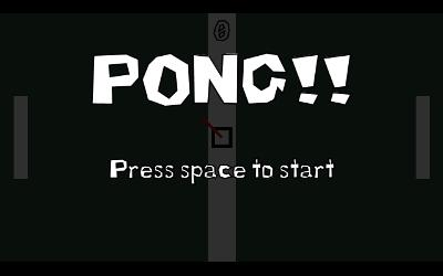 My first pong game